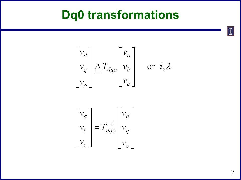 Dq0 transformations