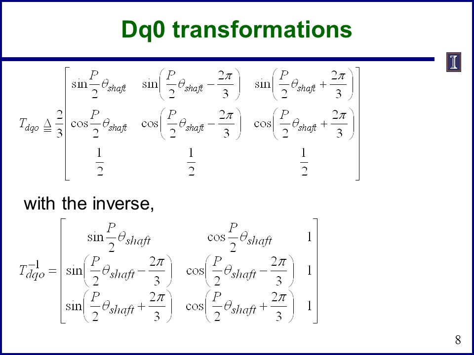 Dq0 transformations with the inverse,