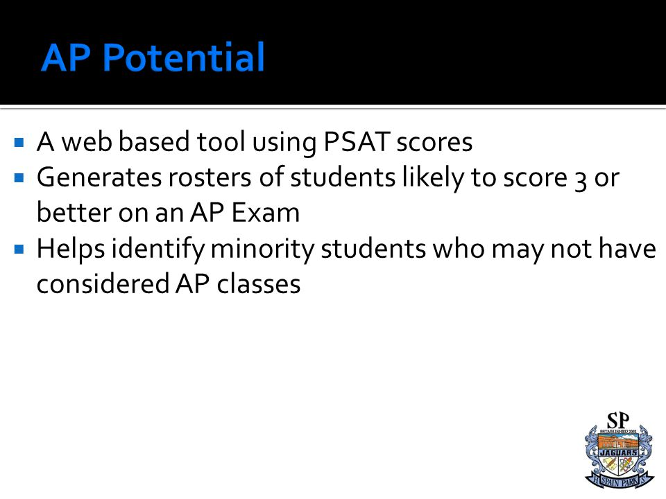 AP Potential A web based tool using PSAT scores