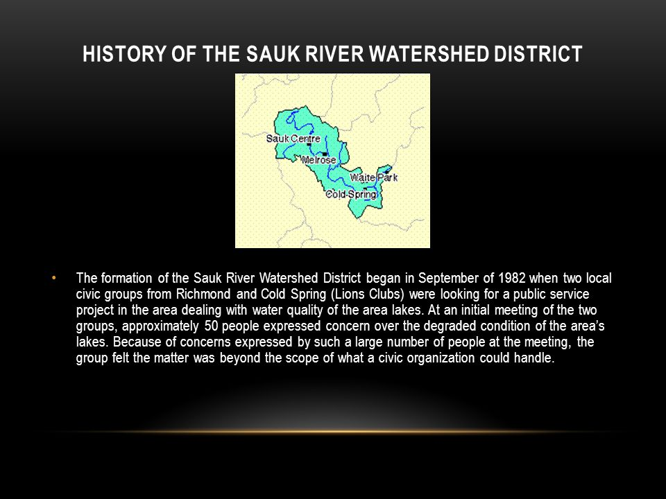 History of the Sauk River Watershed District
