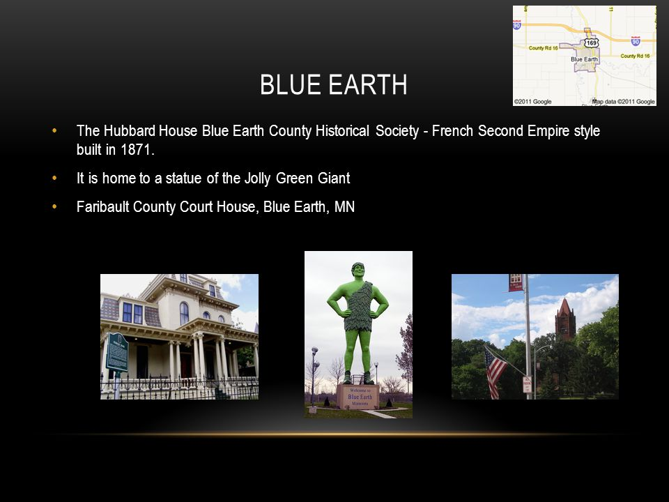 Blue Earth The Hubbard House Blue Earth County Historical Society - French Second Empire style built in 1871.