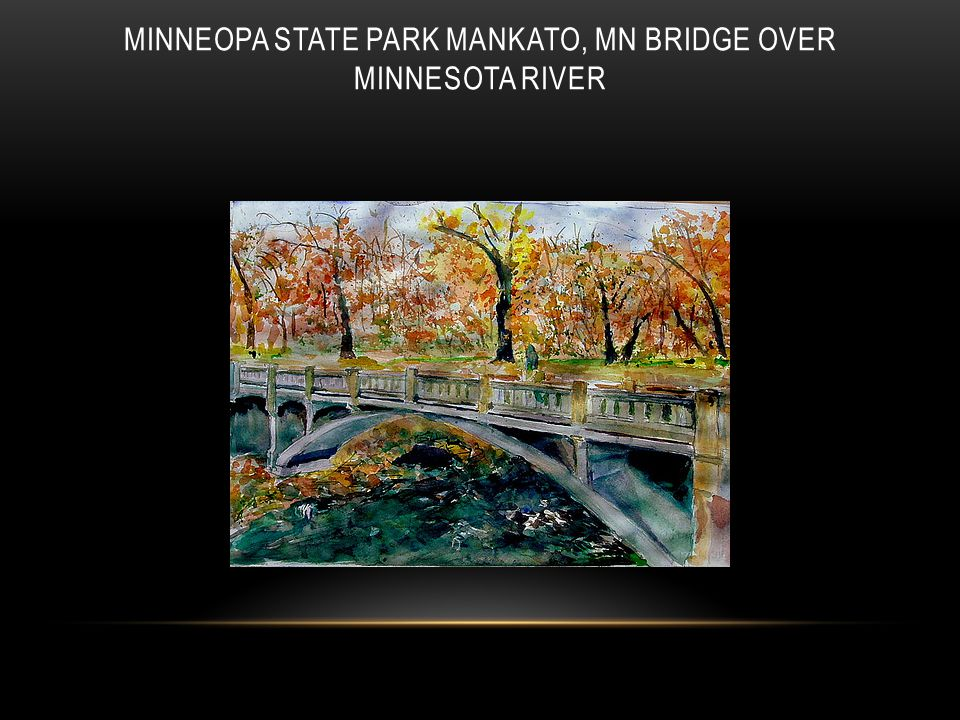Minneopa State Park Mankato, MN bridge over Minnesota River