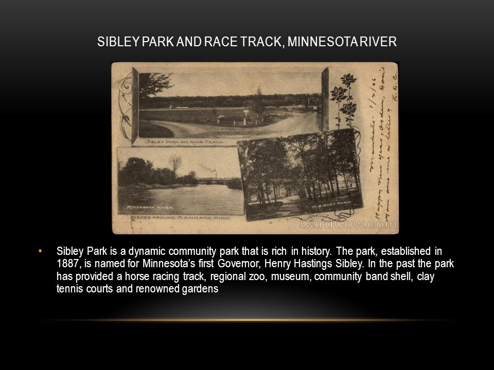 Sibley Park and Race Track, Minnesota River