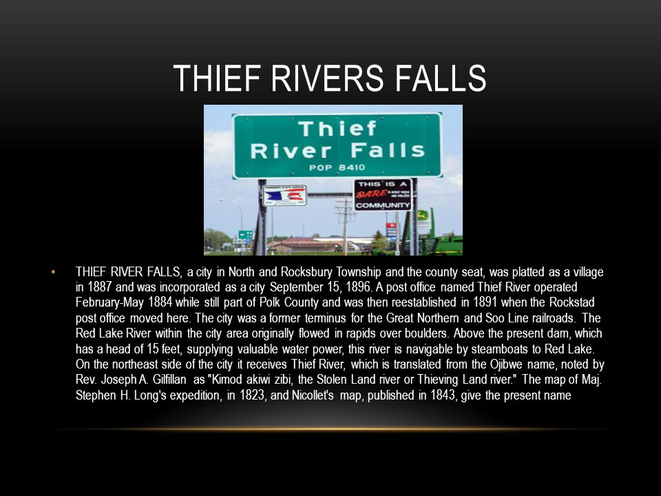 Thief Rivers Falls