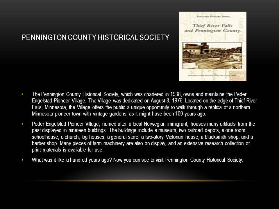 Pennington County Historical Society