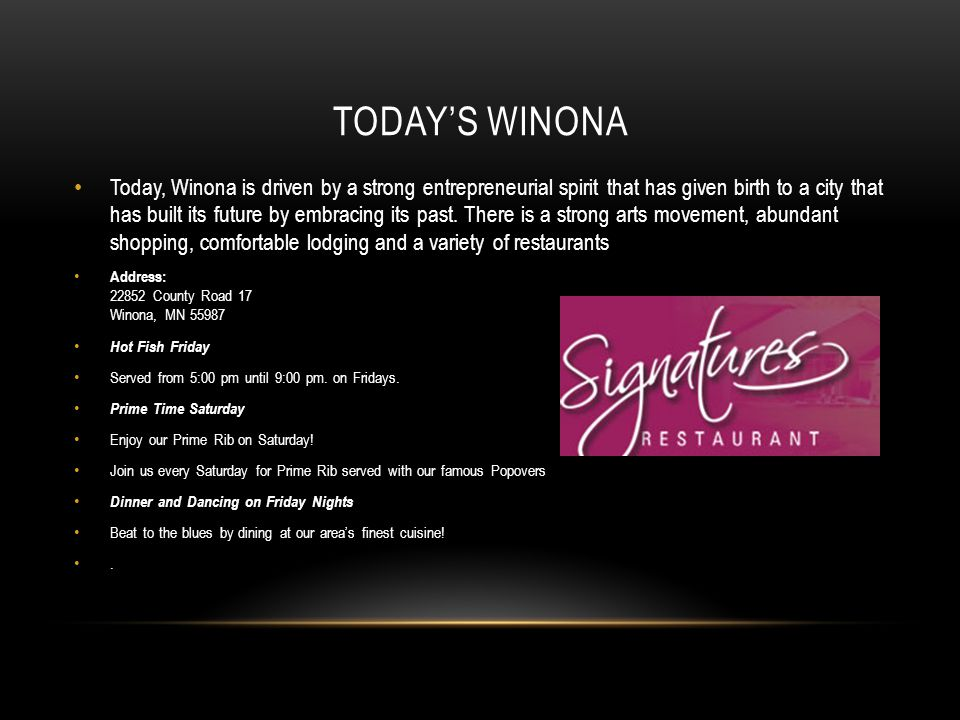 Today's Winona