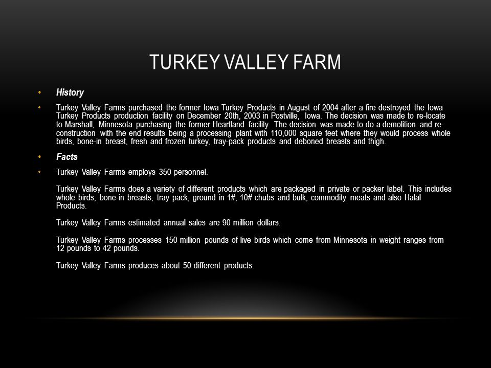 Turkey Valley Farm History Facts
