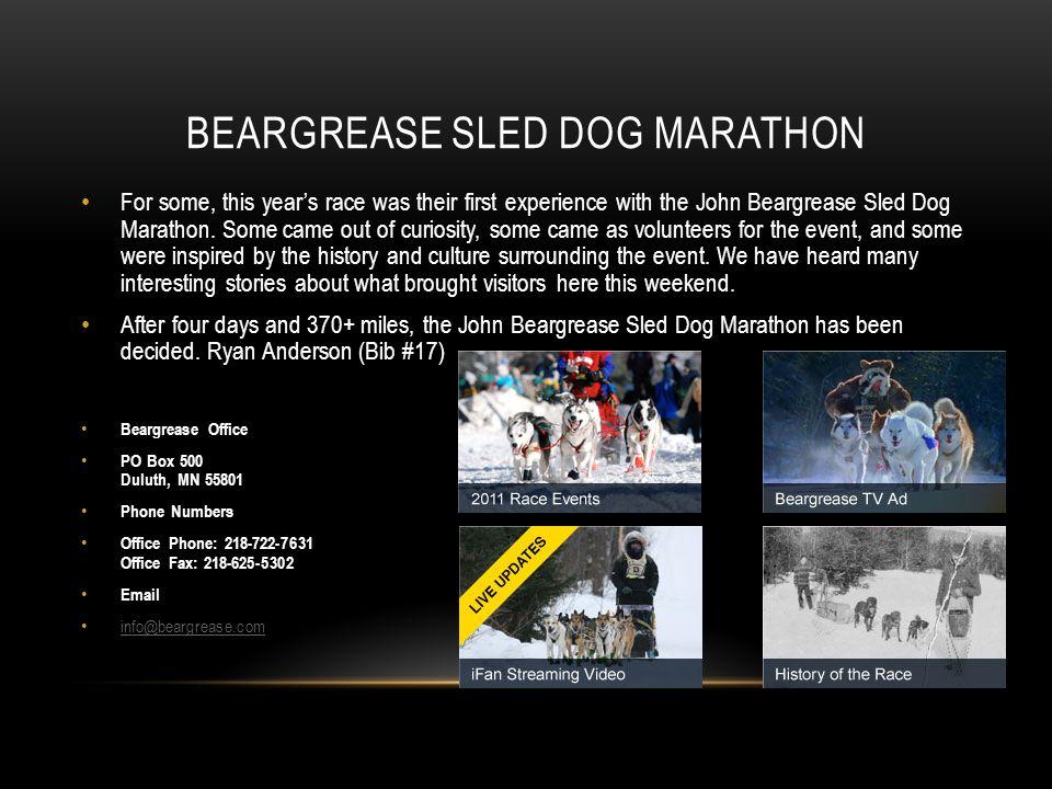 Beargrease Sled Dog Marathon