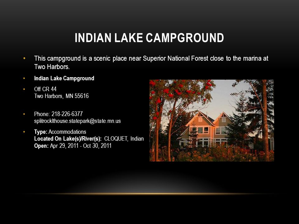 Indian Lake Campground