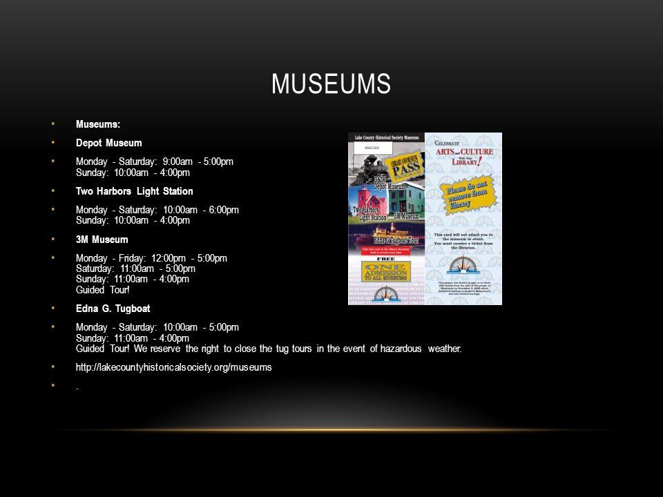 Museums Museums: Depot Museum