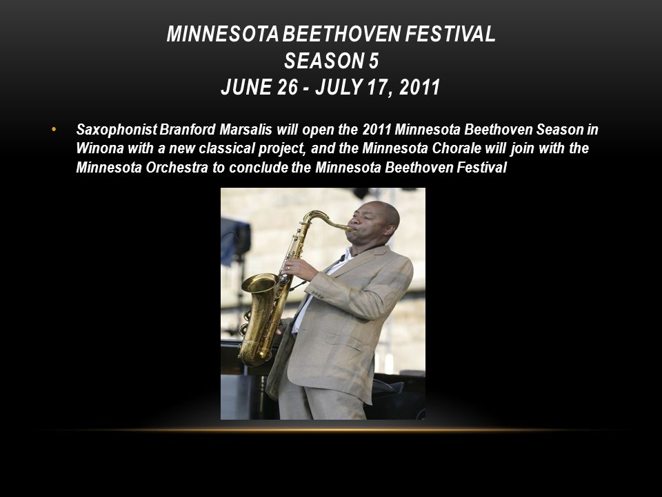 Minnesota Beethoven Festival Season 5 June 26 - July 17, 2011