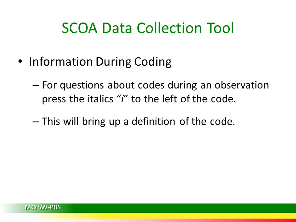 SCOA Data Collection Tool