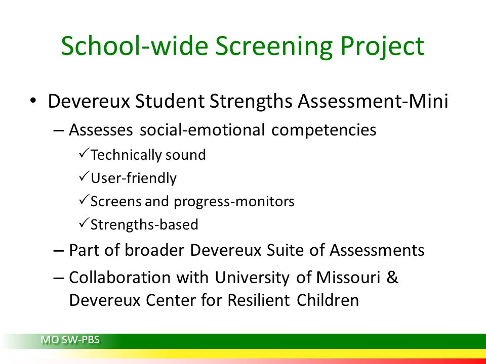 School-wide Screening Project