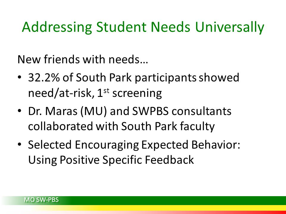 Addressing Student Needs Universally