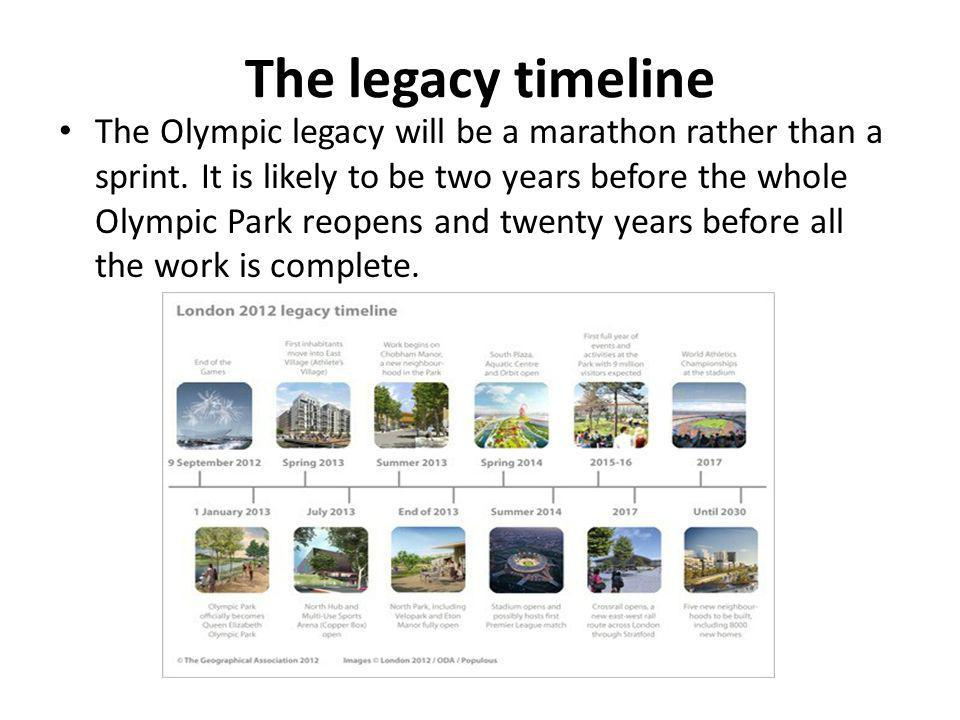 The legacy timeline