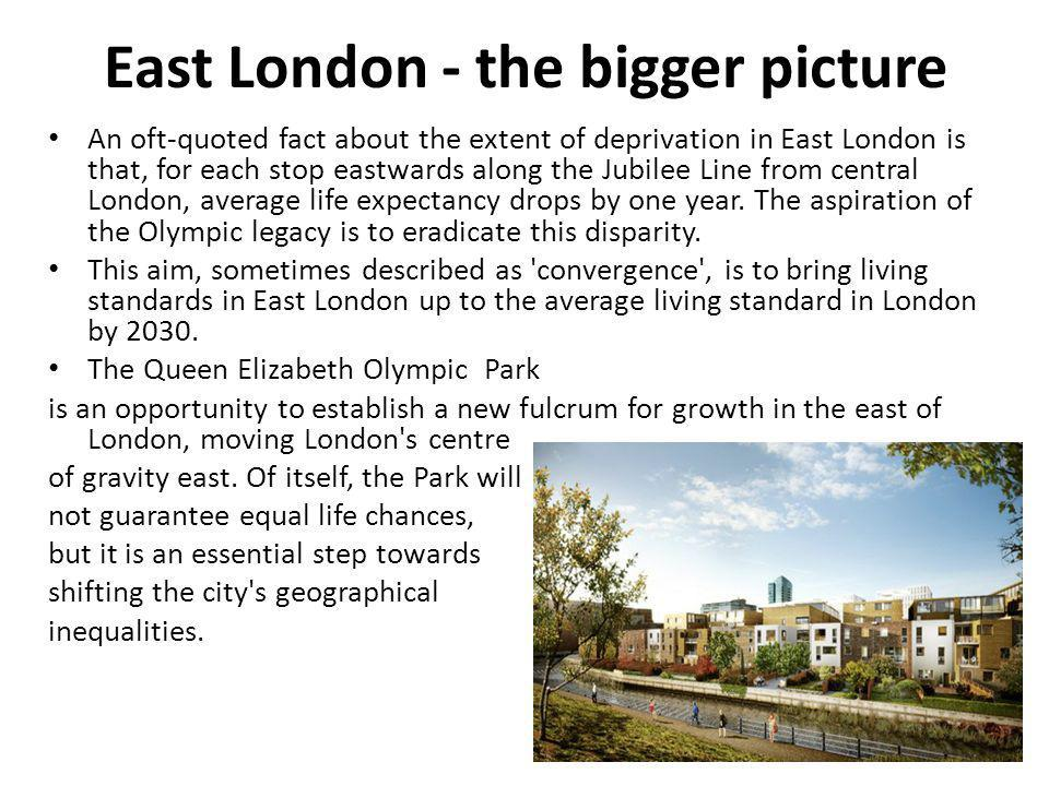 East London - the bigger picture