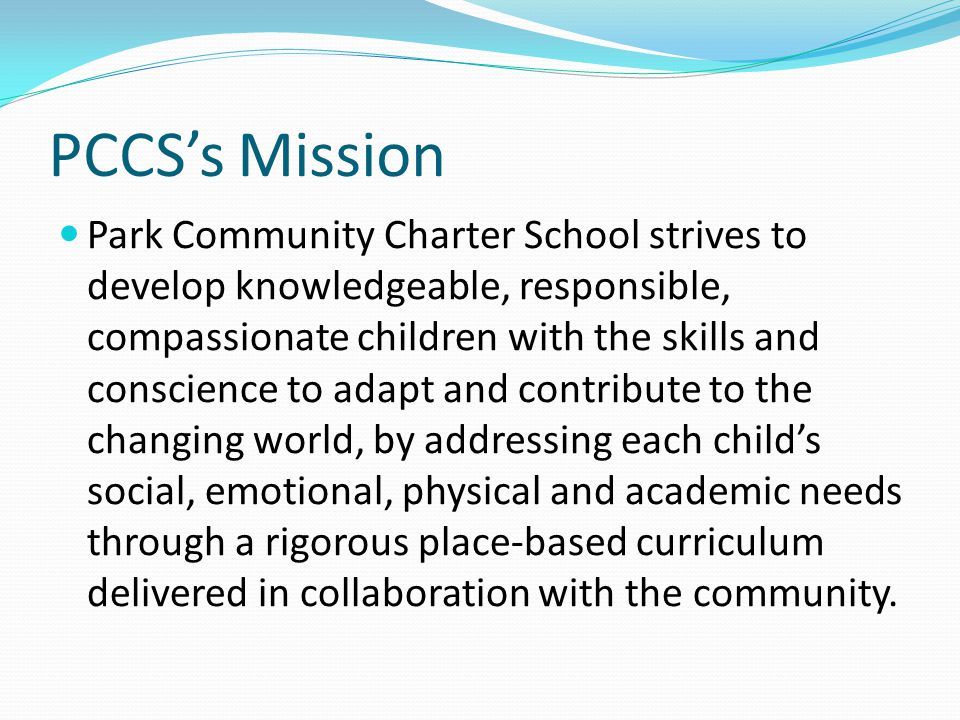 PCCS's Mission