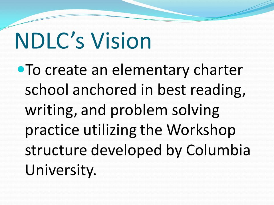 NDLC's Vision