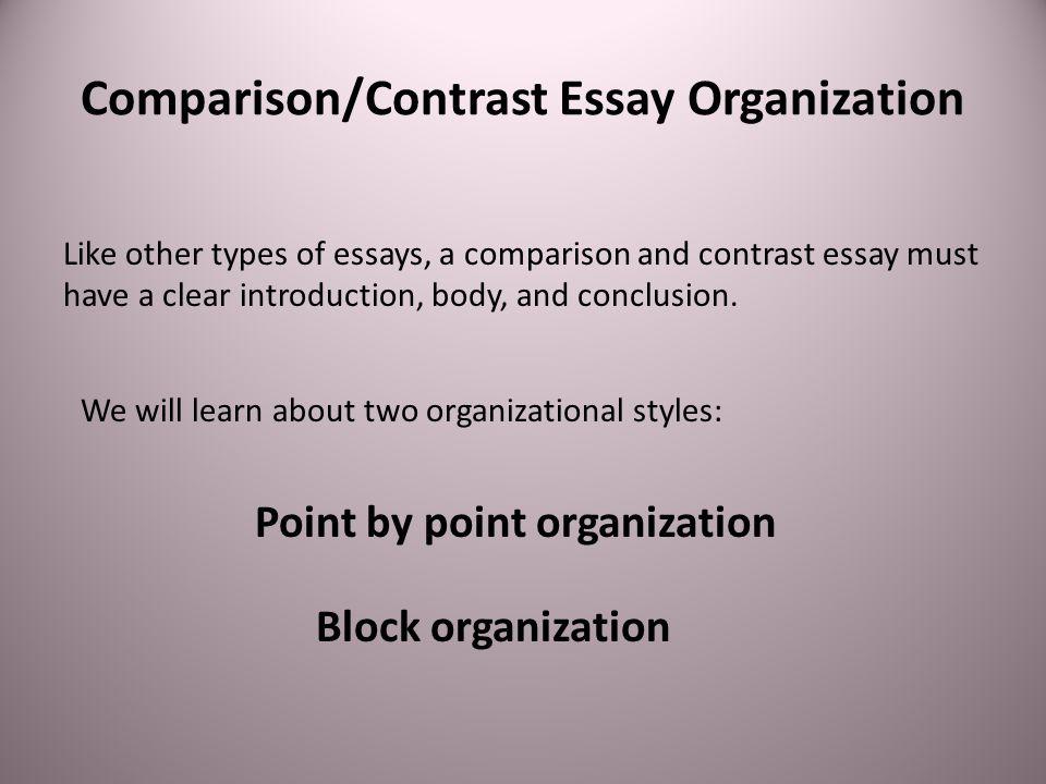 Comparison/Contrast Essay Organization