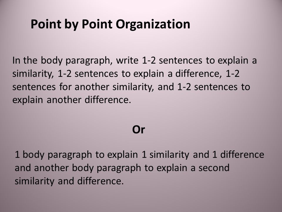 Point by Point Organization