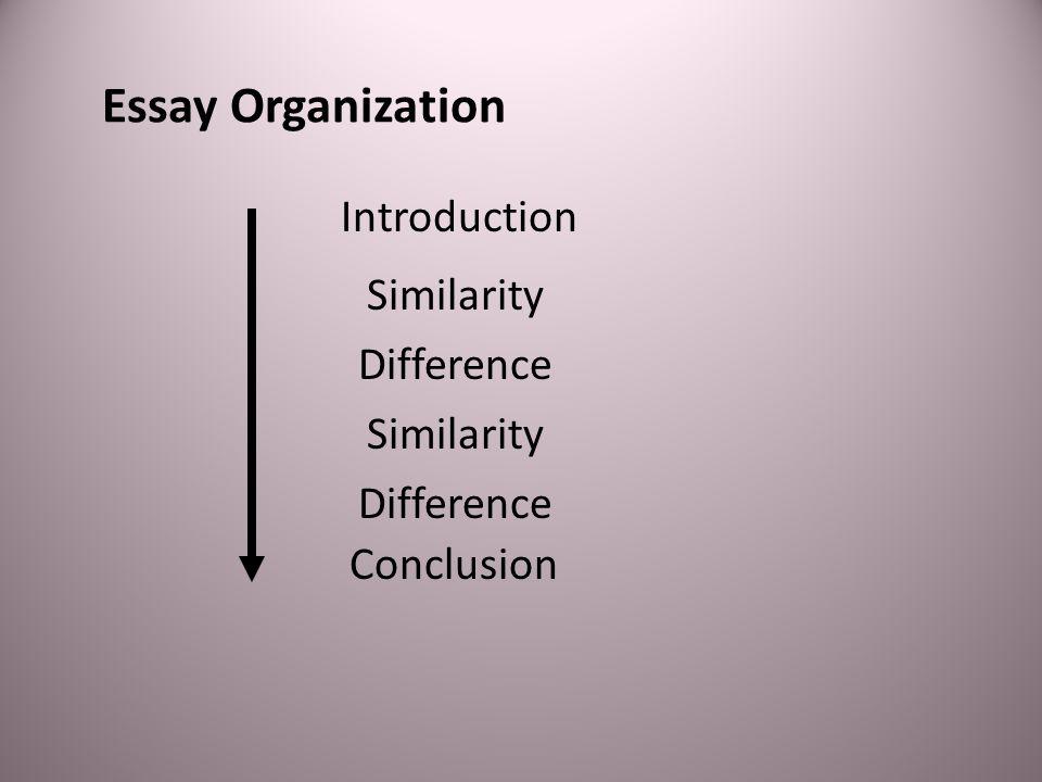 Essay Organization Introduction Similarity Difference Similarity