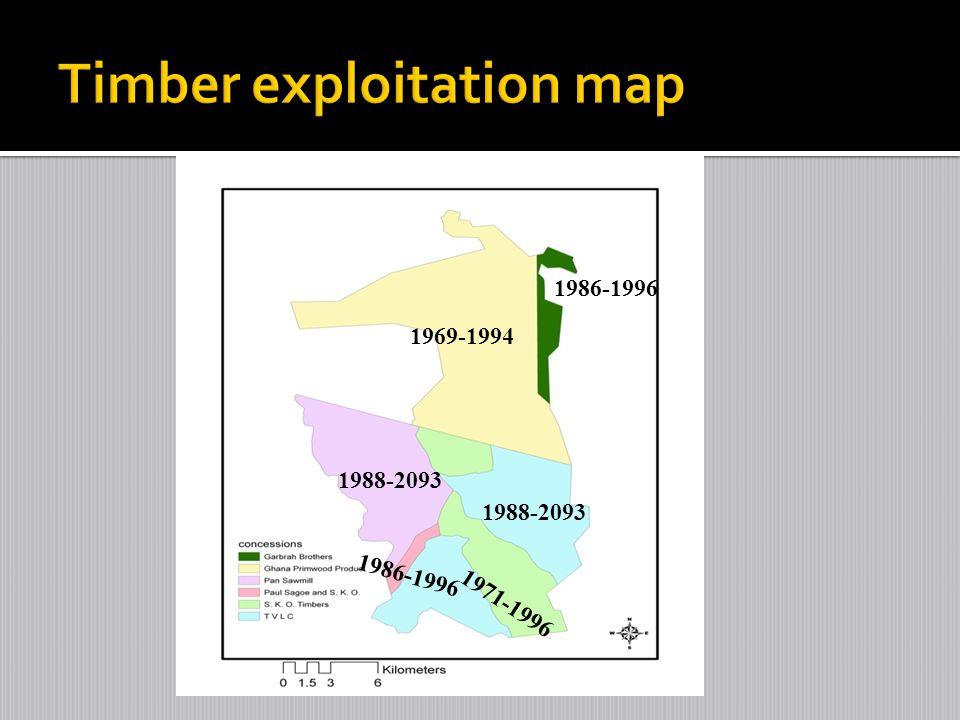 Timber exploitation map
