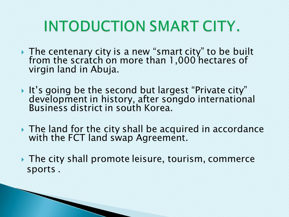 INTODUCTION SMART CITY.