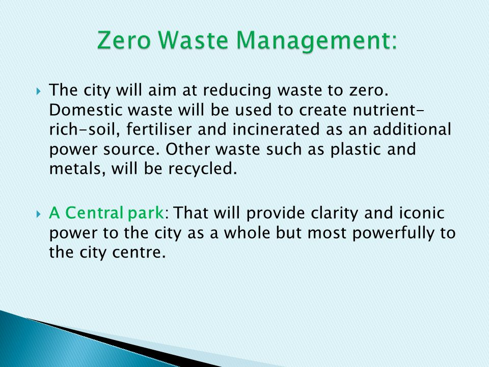 Zero Waste Management: