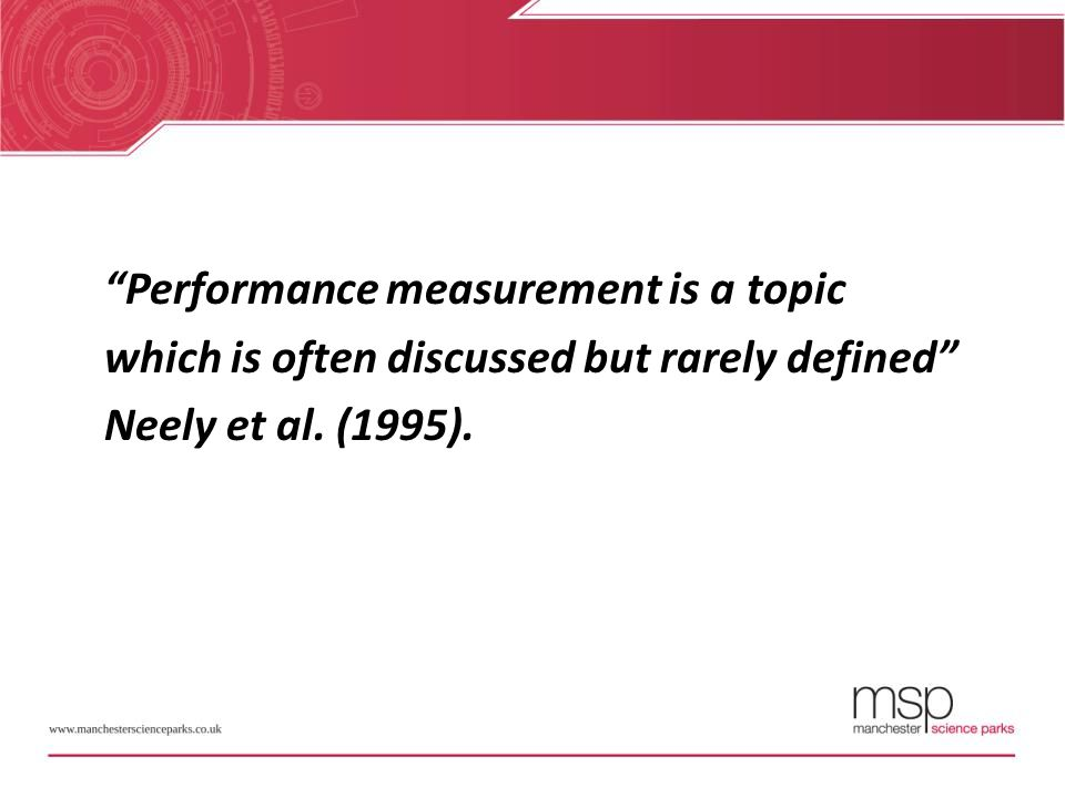 Performance measurement is a topic