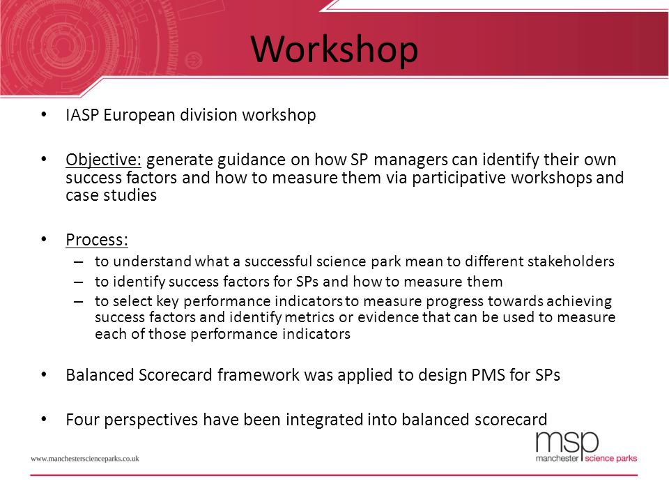Workshop IASP European division workshop
