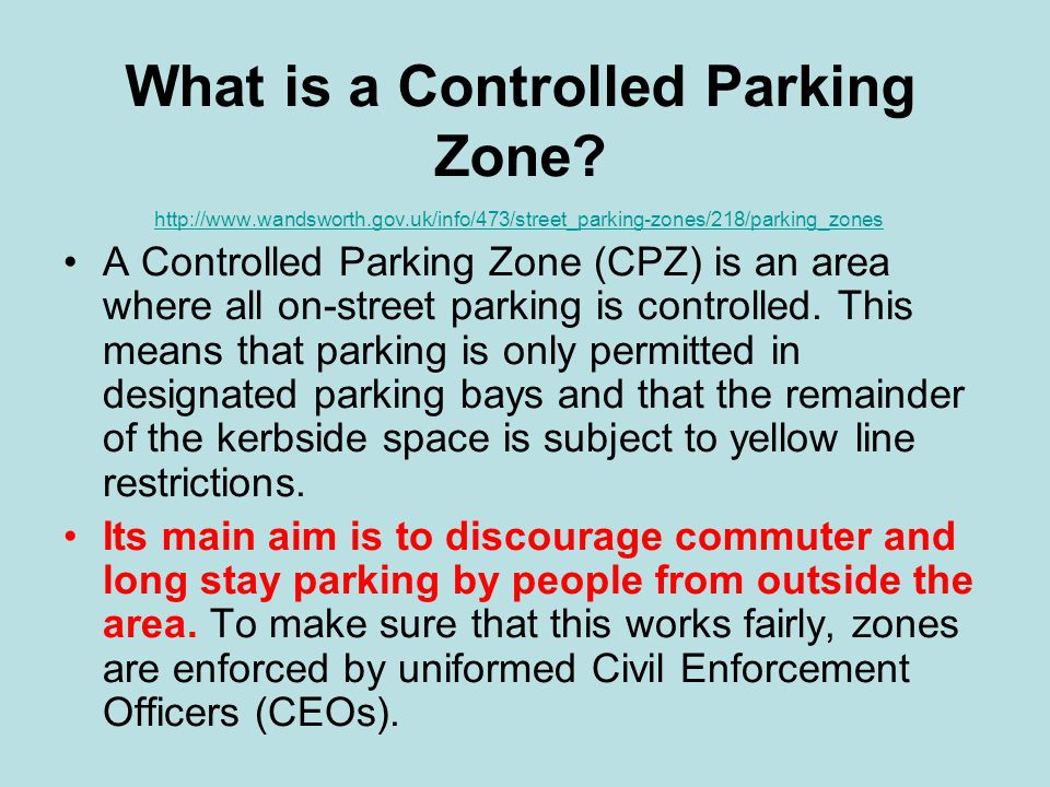 What is a Controlled Parking Zone