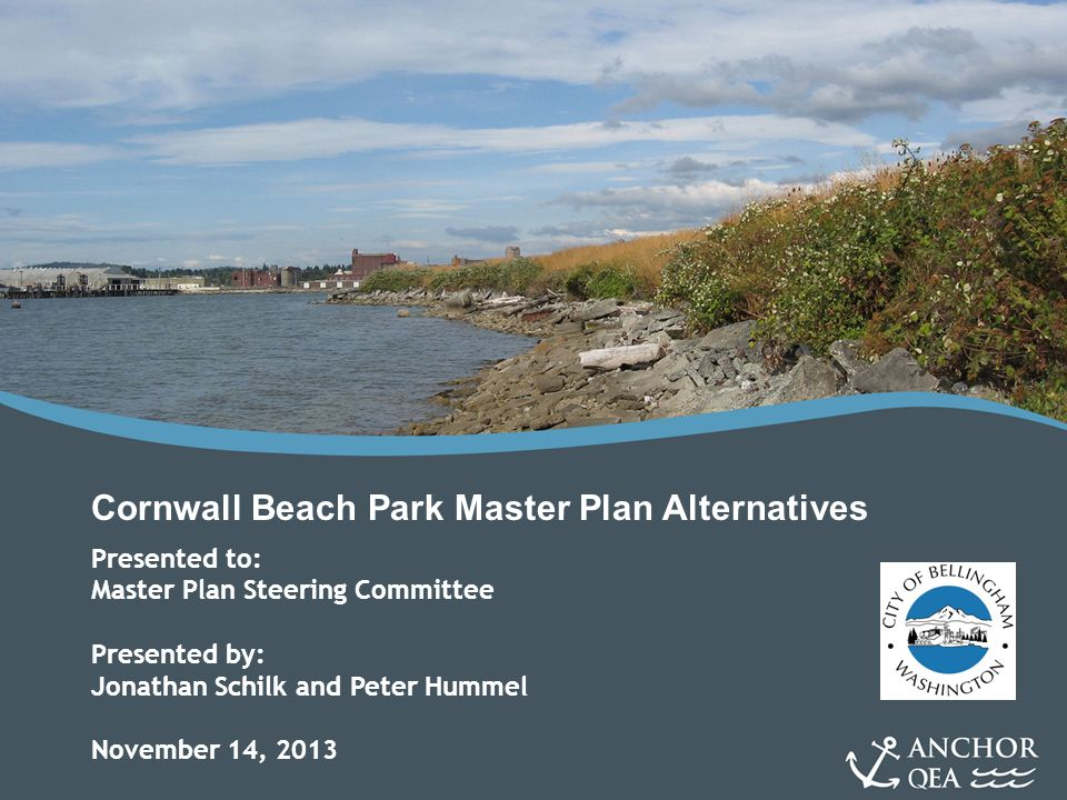 Cornwall Beach Park Master Plan Alternatives