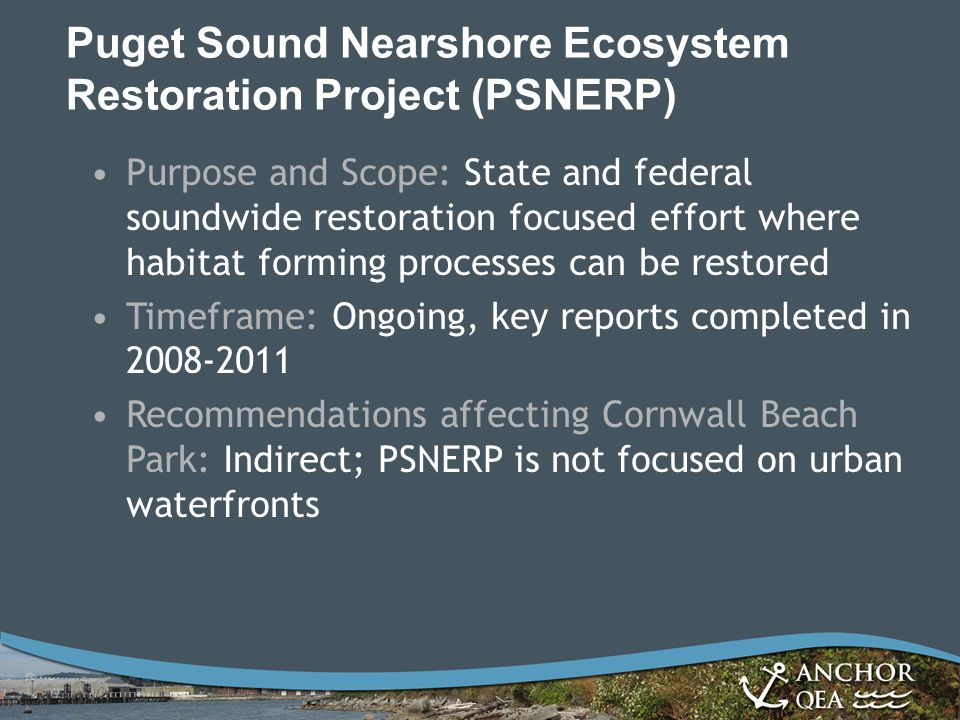 Puget Sound Nearshore Ecosystem Restoration Project (PSNERP)