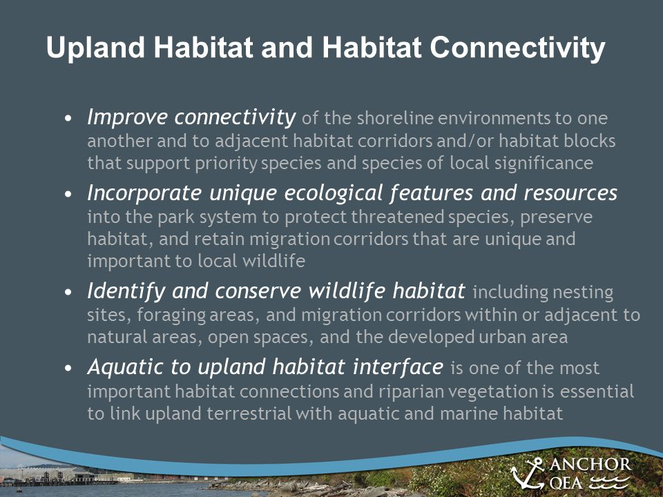Upland Habitat and Habitat Connectivity