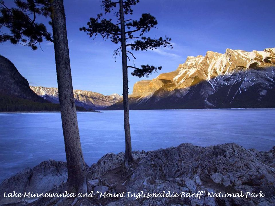 Lake Minnewanka and Mount Inglismaldie Banff National Park