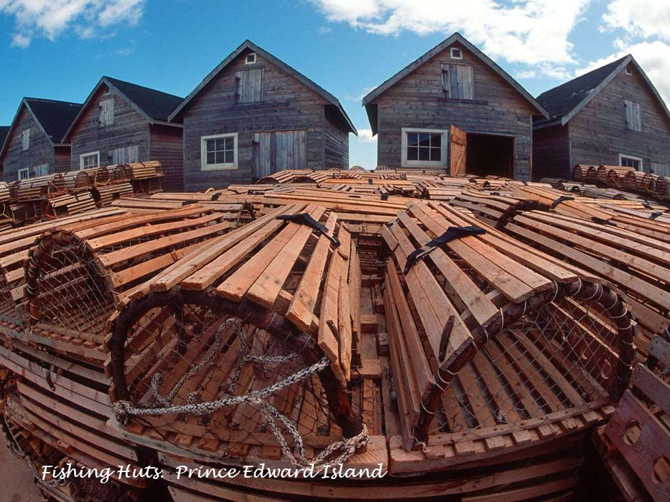 Fishing Huts. Prince Edward Island.