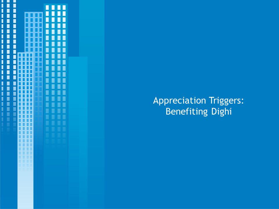 Appreciation Triggers: Benefiting Dighi