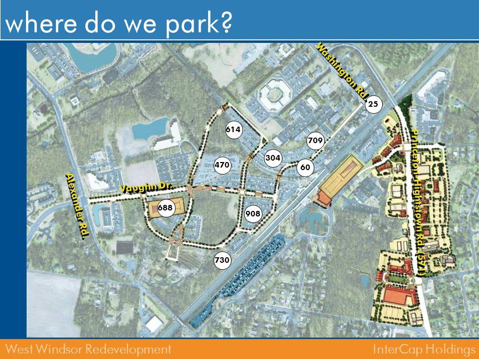 where do we park Washington Rd. Princeton-Hightstown Rd. (571)