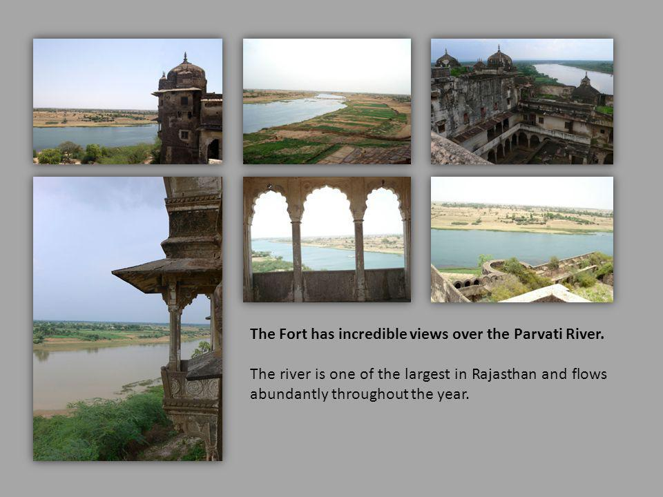 The Fort has incredible views over the Parvati River.