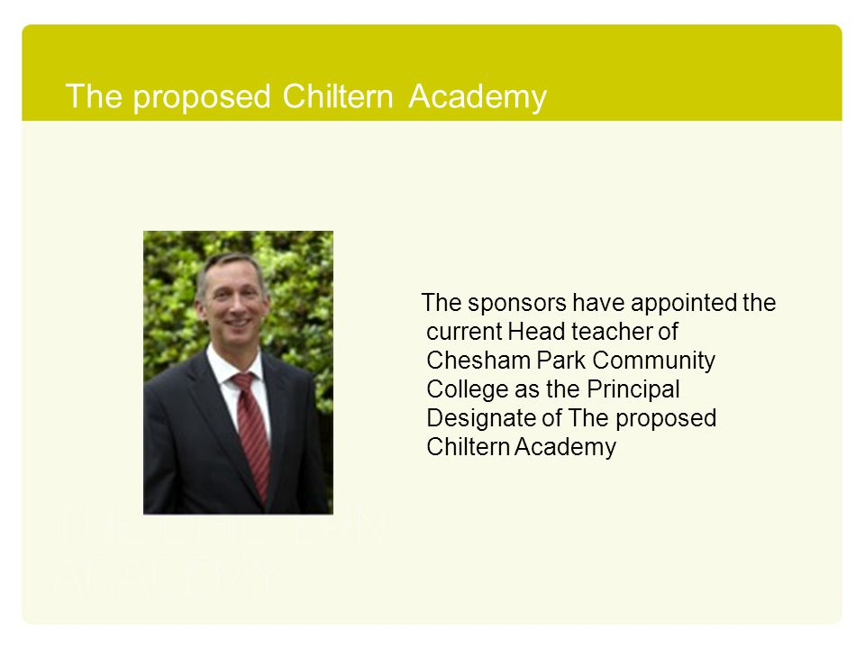 The proposed Chiltern Academy