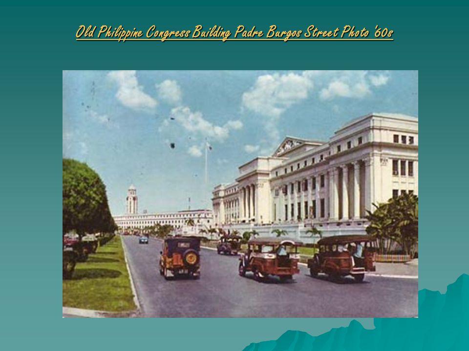 Old Philippine Congress Building Padre Burgos Street Photo 60s