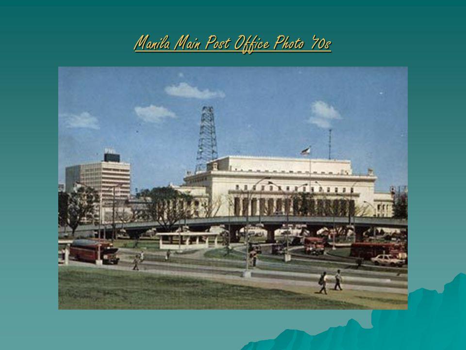 Manila Main Post Office Photo 70s