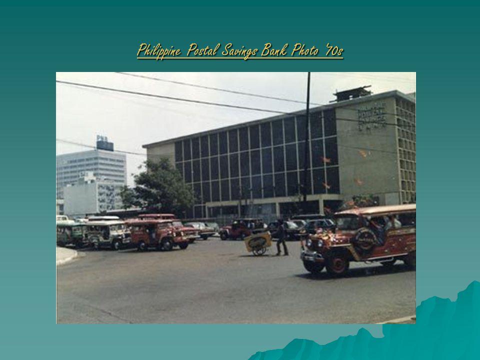Philippine Postal Savings Bank Photo 70s