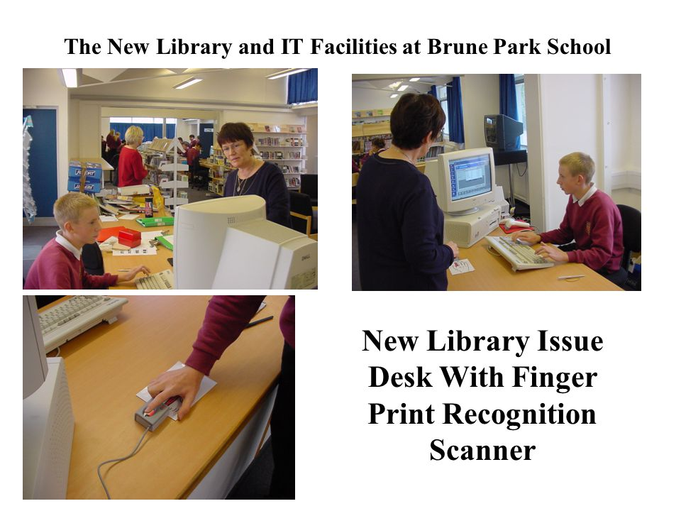 New Library Issue Desk With Finger Print Recognition Scanner