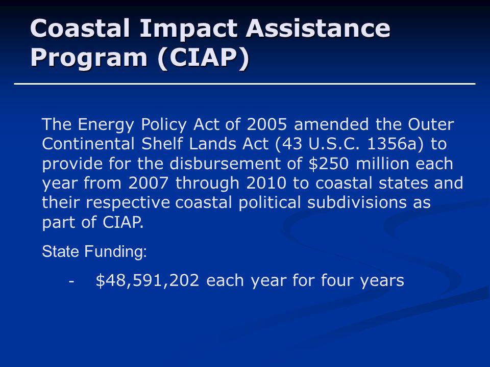 Coastal Impact Assistance Program (CIAP)