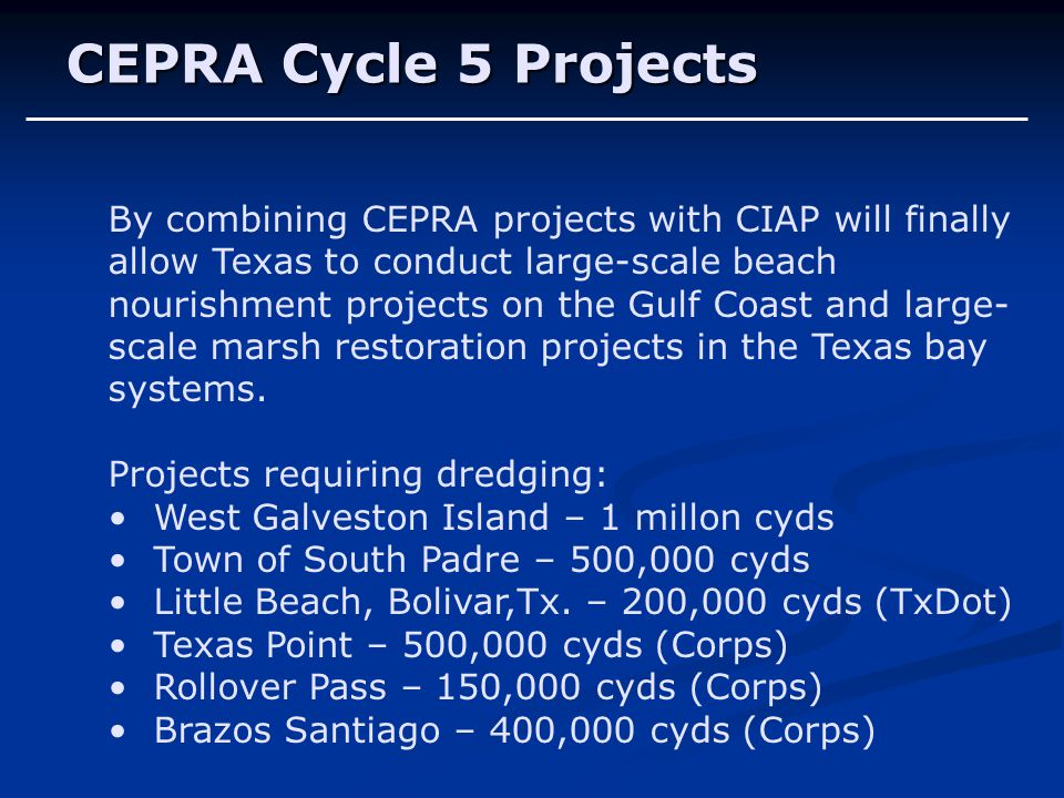 CEPRA Cycle 5 Projects