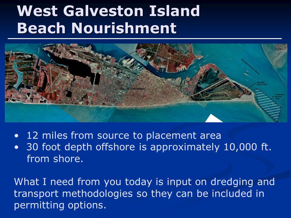 West Galveston Island Beach Nourishment