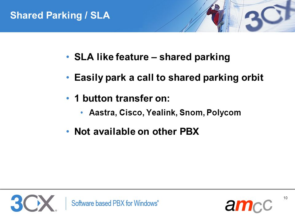 SLA like feature – shared parking