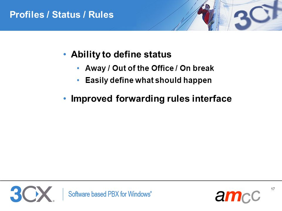 Profiles / Status / Rules