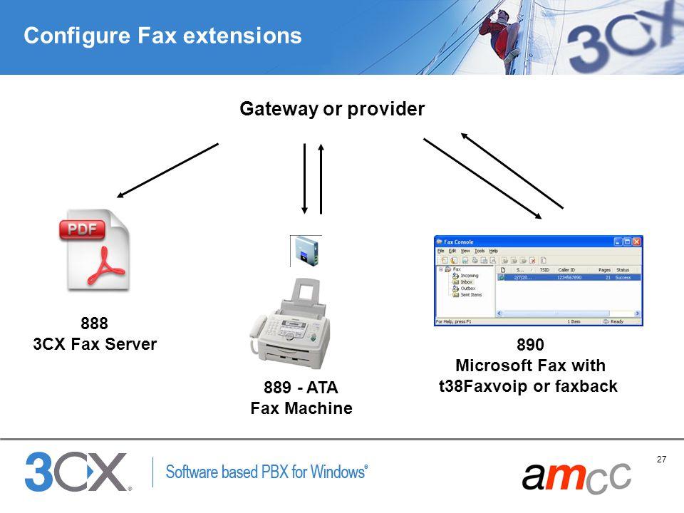 Configure Fax extensions